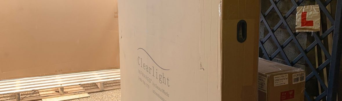 Clearlight saunas come well packaged